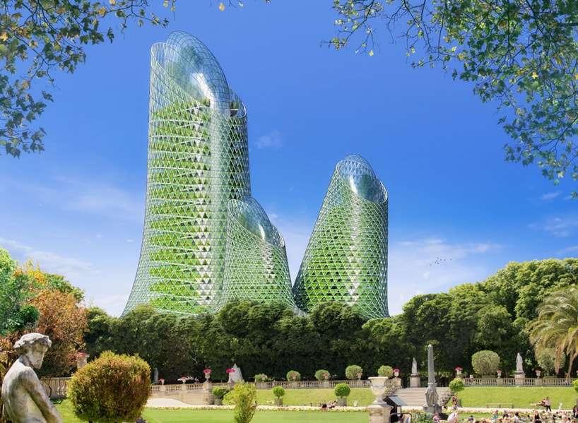 Arquitetura verde e sustentável para remodelar a Paris de 2050 stylo urbano