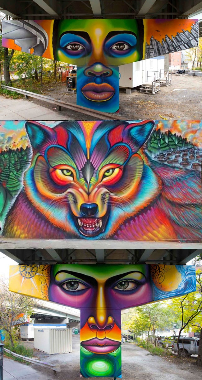 Os grafites coloridos e surreais de Shalak Ataque stylo urbano