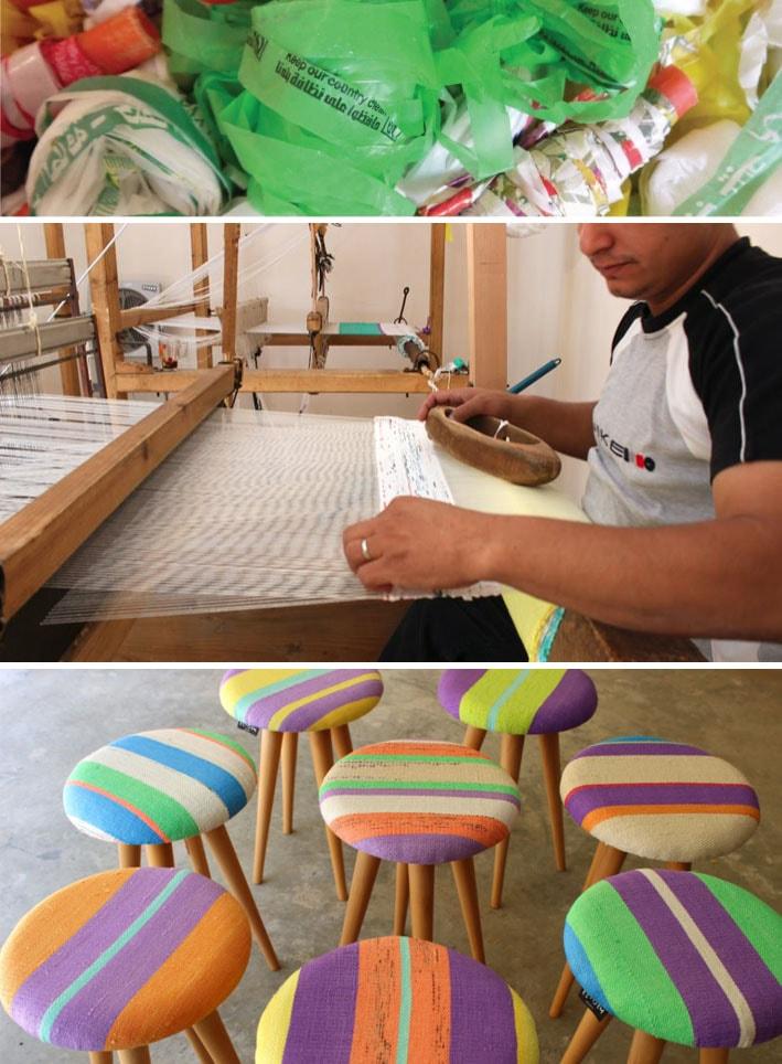 PLASTEX: O tecido feito em tear manual com plástico reciclado de sacolas stylo urbano