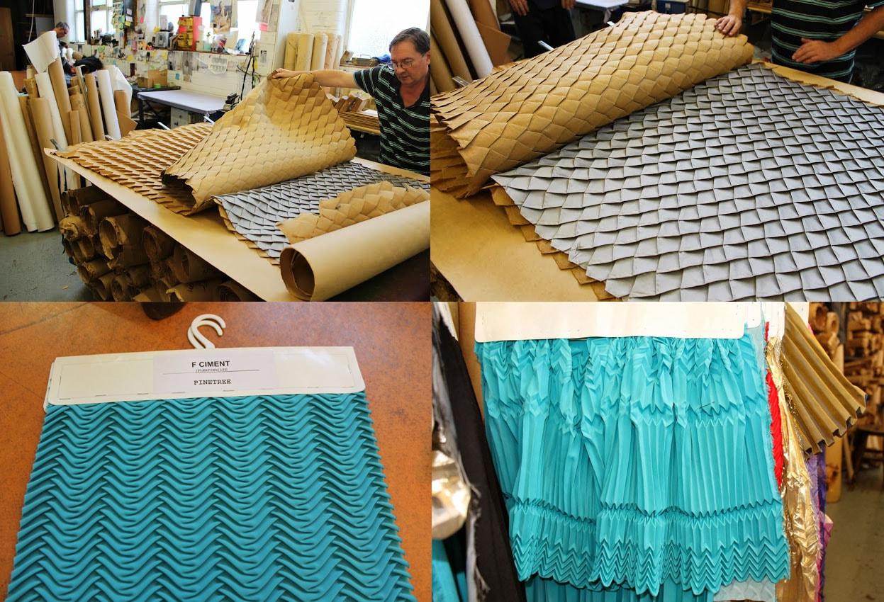 Ciment Pleating cria tecidos plissados que são verdadeiras esculturas vestíveis stylo urbano