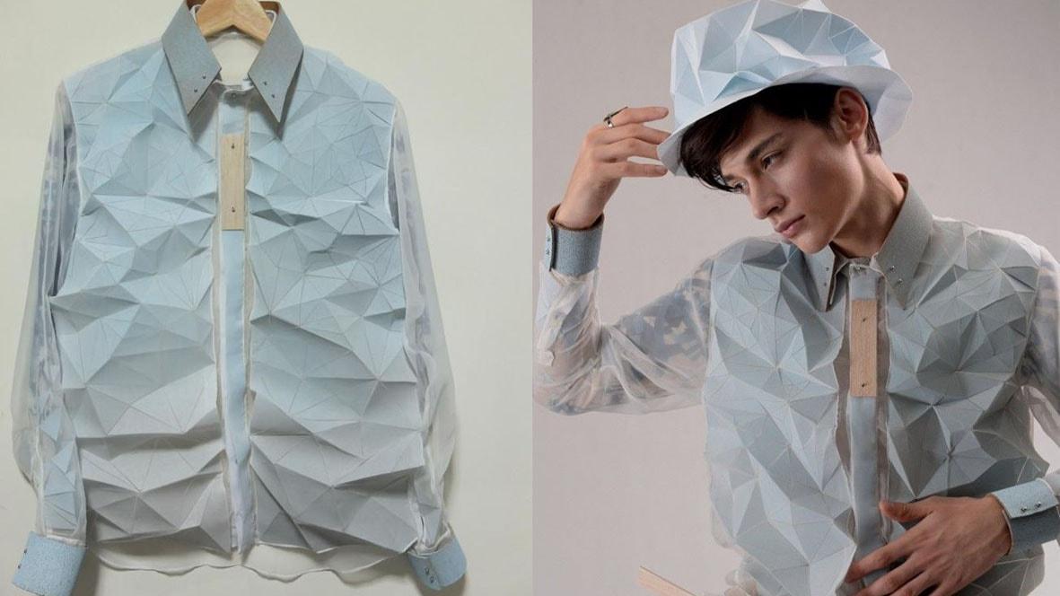 Designers criam tecidos tridimensionais inspirados nas dobraduras de origamis