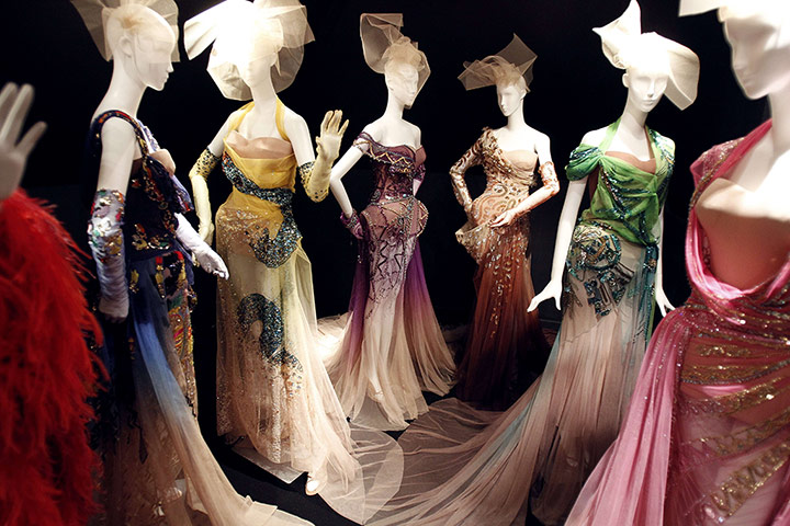 Dresses designed by John Galiano