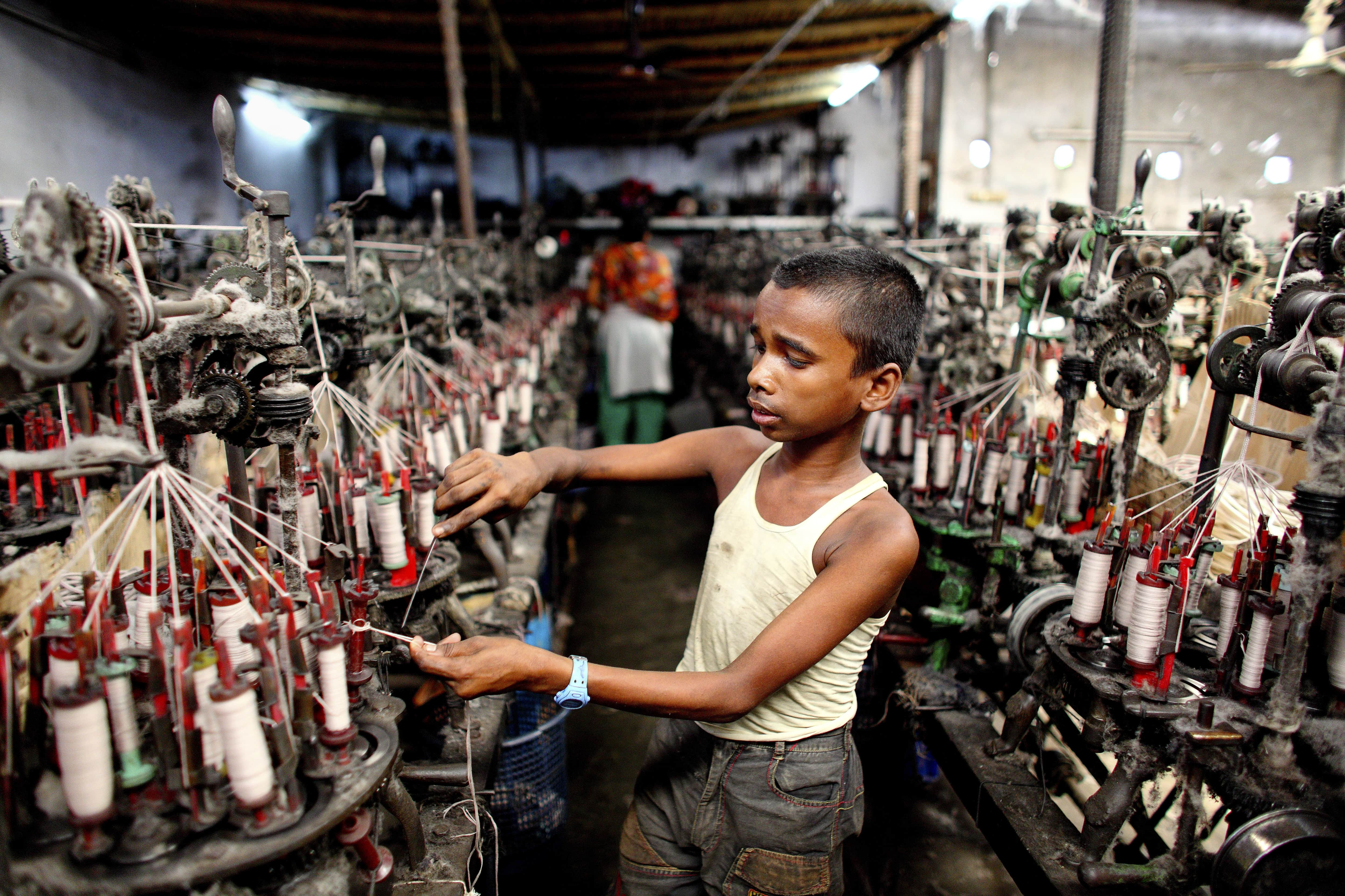 million children are engaged in child labour, with many making textiles and garments to satisfy the demand of consumers in Europe, the US, and beyond Children work at all stages of the supply chain in the fashion industry: from the production of cotton seeds in Benin, harvesting in Uzbekistan, yarn spinning in India, right through to the different phases of putting garments together in factories across .