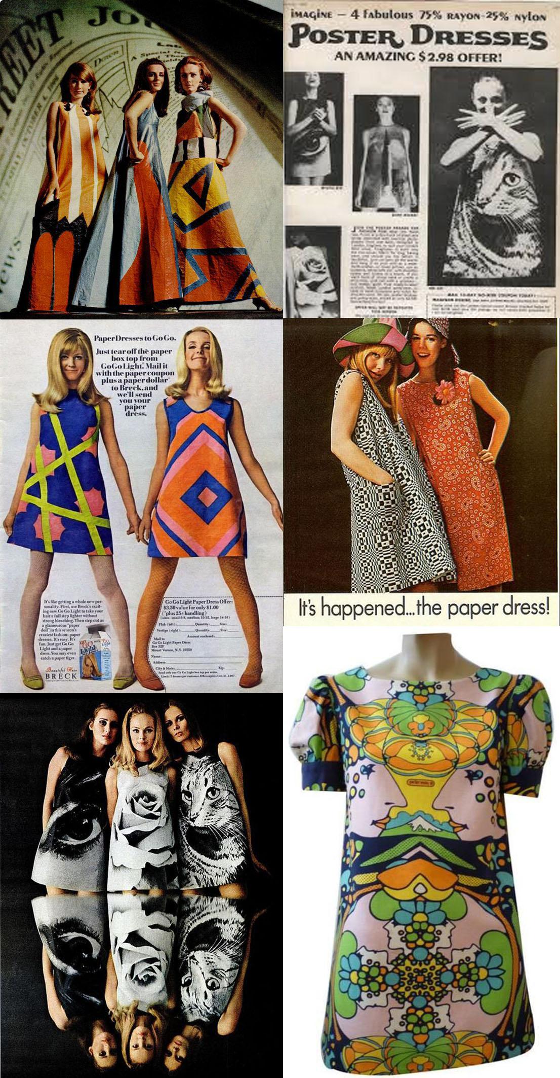 A Era Espacial dos anos 60 lançou os vestidos de papel que foram os percussores do fast fashion stylo urbano-1