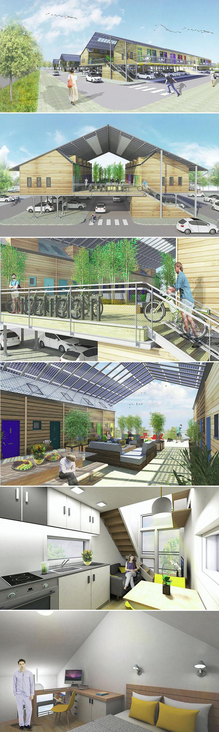 ZEDpod é um novo conceito de construir casas pré fabricadas sobre estacionamentos  stylo urbano