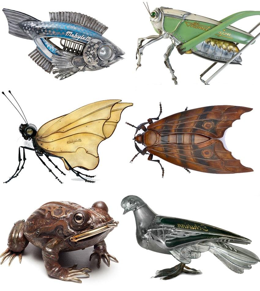 Edouard Martinet cria incríveis esculturas de animais e insetos feitos desucata stylo urbano