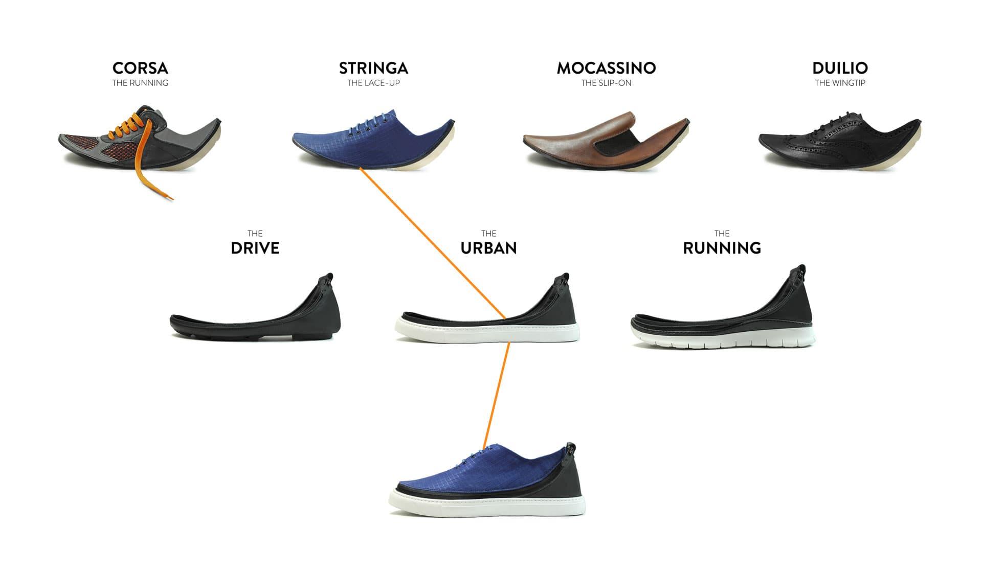 Shooz - os primeiros sapatosmodulares e customizáveisdo mundostylo urbano