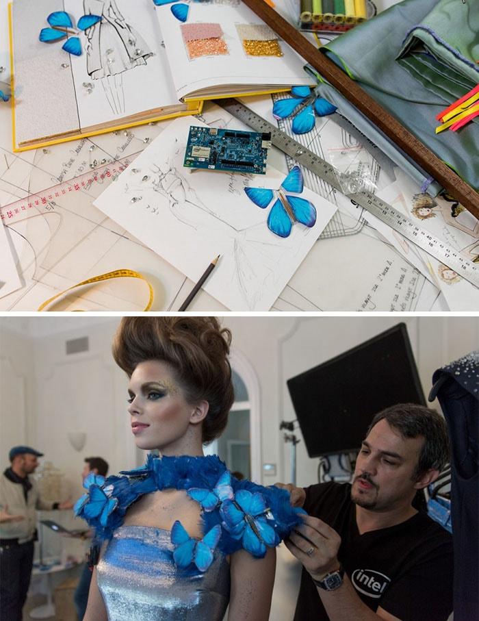Intel investe na tecnologia vestível para alta costura com o Butterfly Dress stylo urbano