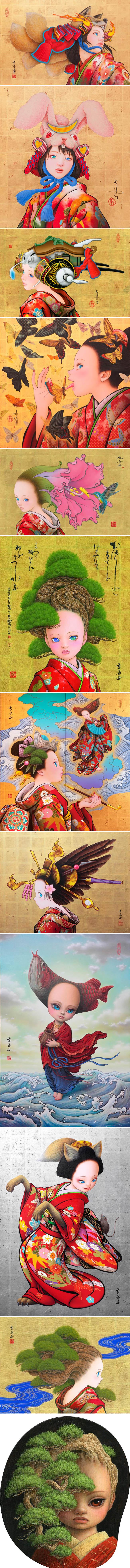 Tamura Yoshiyasu une o moderno mangá com a arte tradicional japonesa stylo urbano