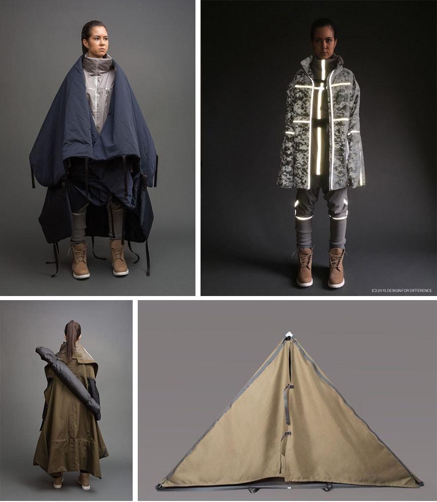 Estudante de moda cria roupas multifuncionais para refugiados sírios stylo urbano