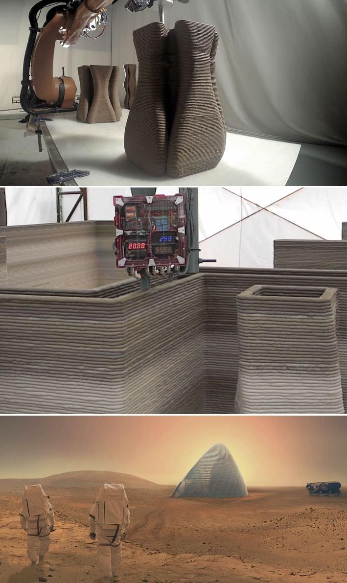 Casas populares feitas de terra comimpressora 3DcustarãoUS $ 1000 stylo urbano