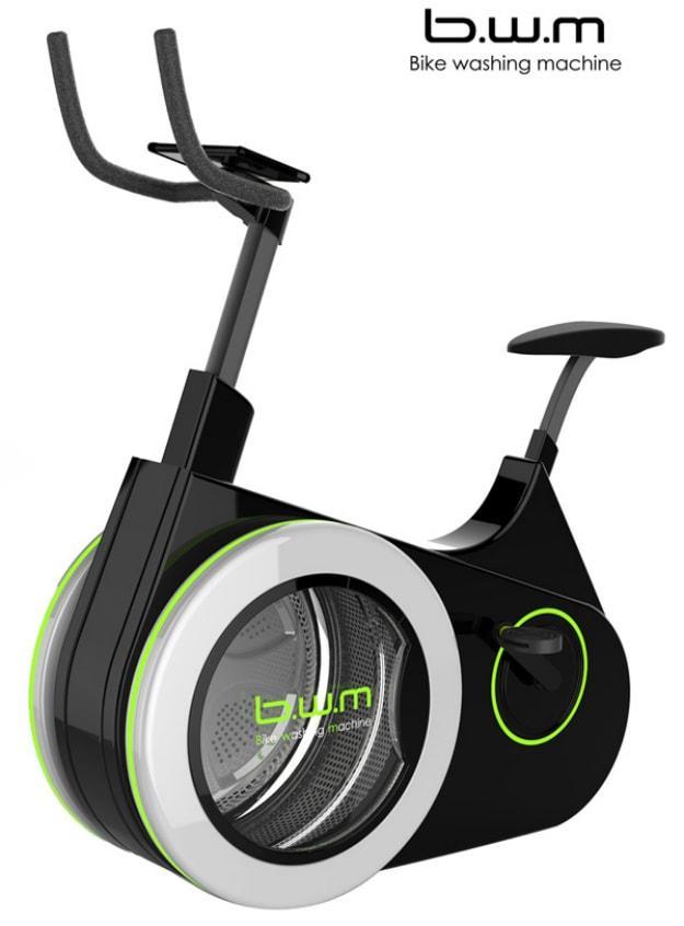 Com essa bicicleta ergométrica você treina e lava suas roupas ao mesmo tempo stylo urbano
