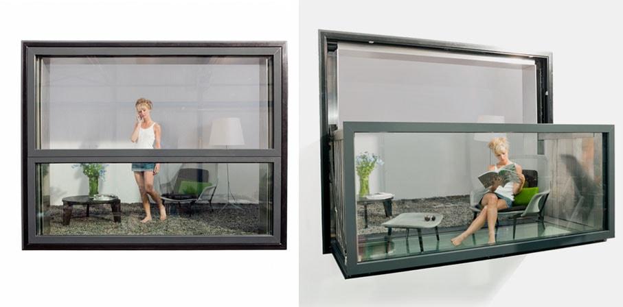 Esta janela dinâmica se transforma numa sacada com o toque de um botão stylo urbano
