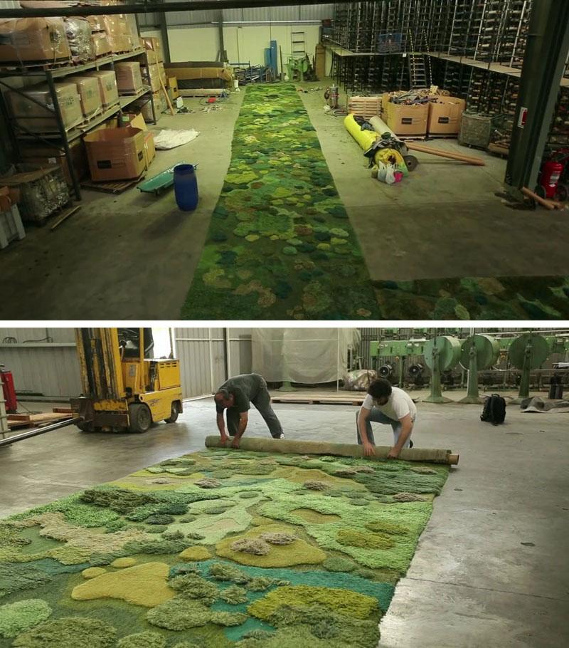 Artista cria um belíssimo tapete artesanal para o desfile de Dries Van Noten stylo urbano