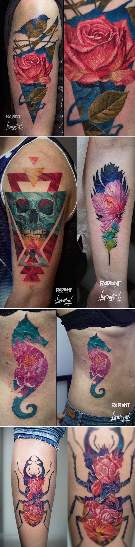 Andrey Lukovnikov cria tatuagens múltiplas sobrepondo diferentes desenhos stylo urbano-1
