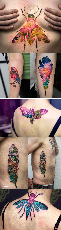 Andrey Lukovnikov cria tatuagens múltiplas sobrepondo diferentes desenhos stylo urbano-2