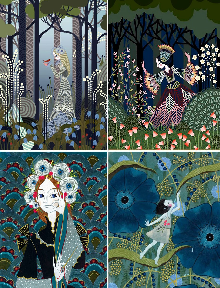 Ilustrações de Charlotte Gastaut viram estampas na coleção dealta costura daFendi stylo urbano-1
