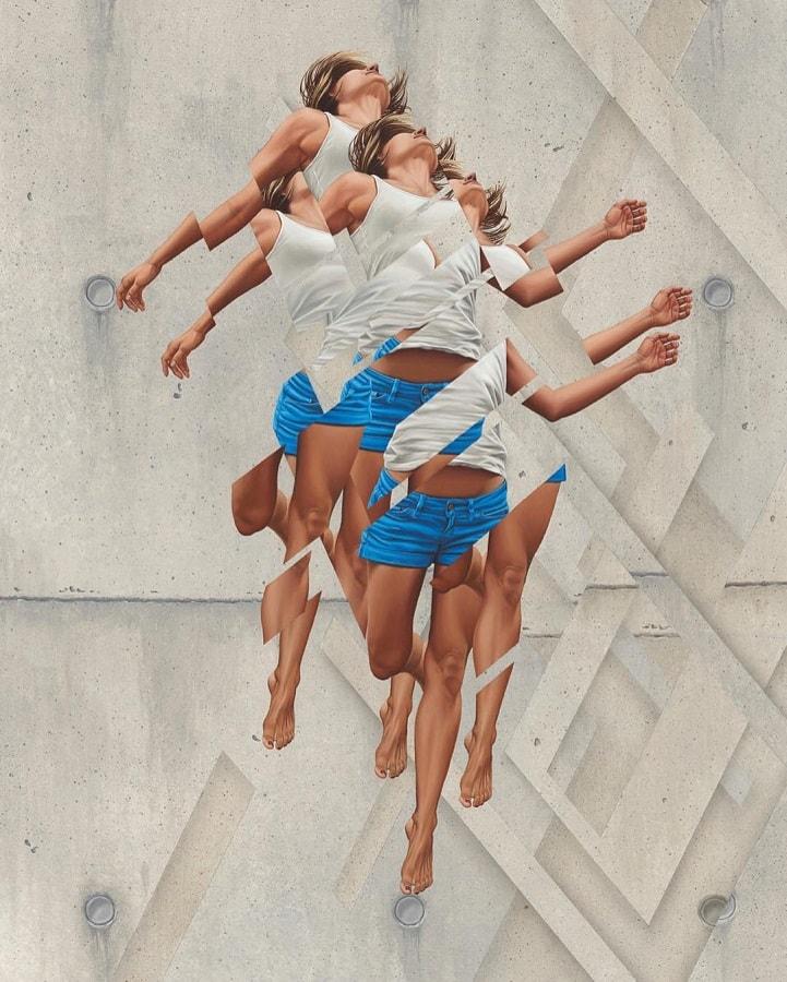"""Pintor James Bullough explora a fragmentação humana através da série """"Breaking Point"""" stylo urbano-9"""