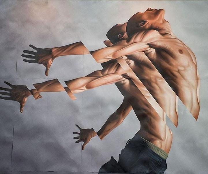 """Pintor James Bullough explora a fragmentação humana através da série """"Breaking Point"""" stylo urbano-1"""