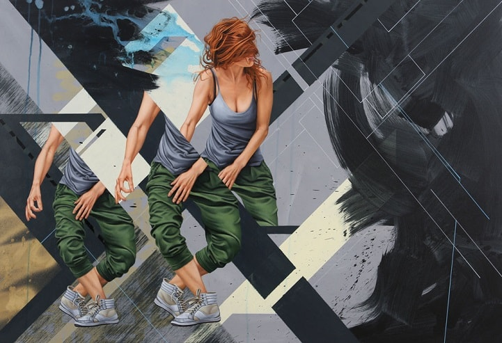 """Pintor James Bullough explora a fragmentação humana através da série """"Breaking Point"""" stylo urbano-3"""