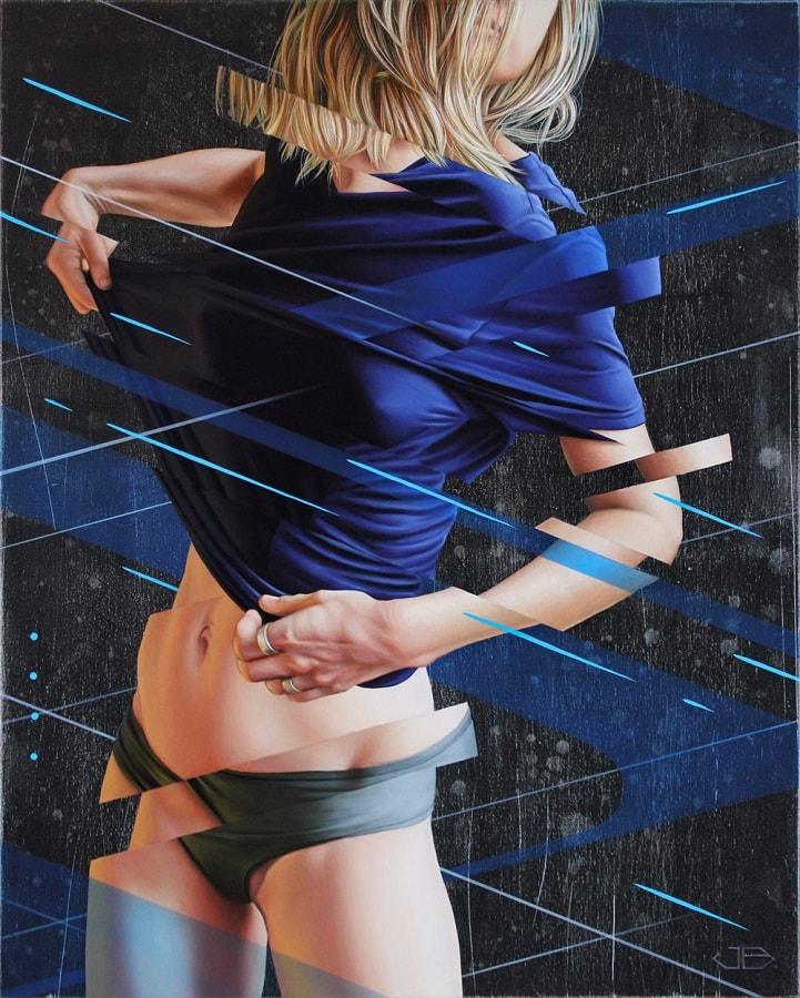 """Pintor James Bullough explora a fragmentação humana através da série """"Breaking Point"""" stylo urbano-6"""