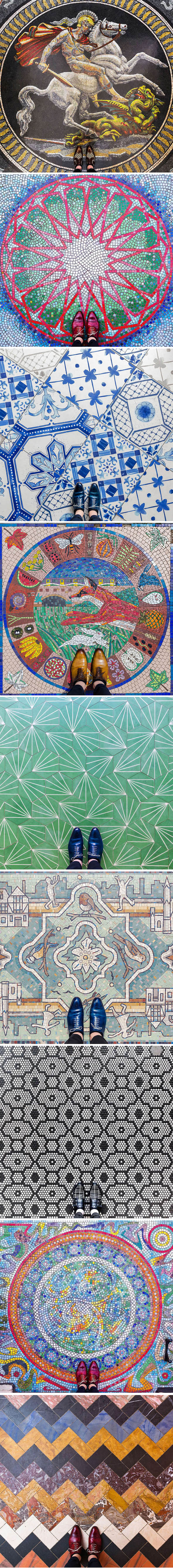 Sebastian Erras fotografa os mais belos azulejos e mosaicos de Londres stylo urbano