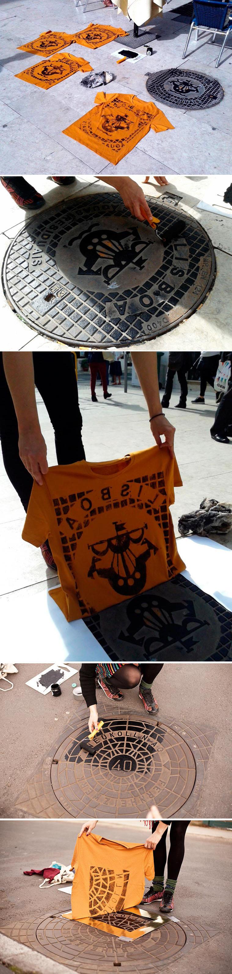 Coletivo de serigrafia utiliza tampas de bueiros para estampar roupas e bolsas stylo urbano-1