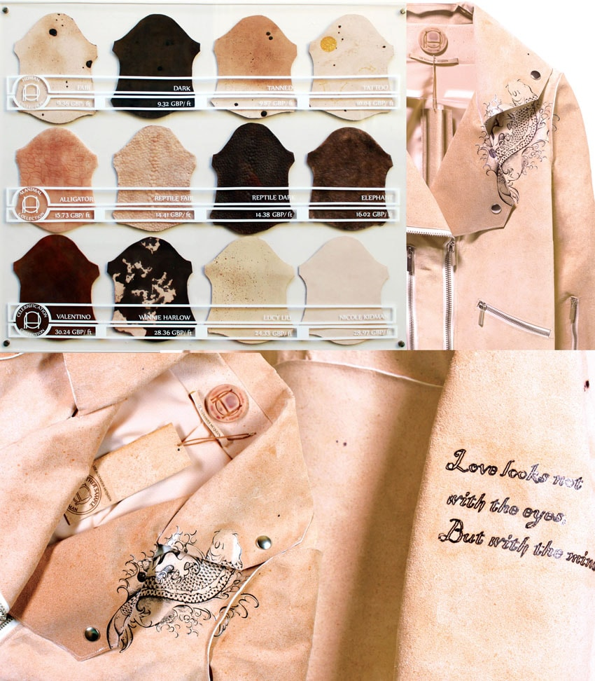 """Pure Human - Artigos de """"couro humano"""" feitos com DNA de Alexander McQueen stylo urbano-1"""