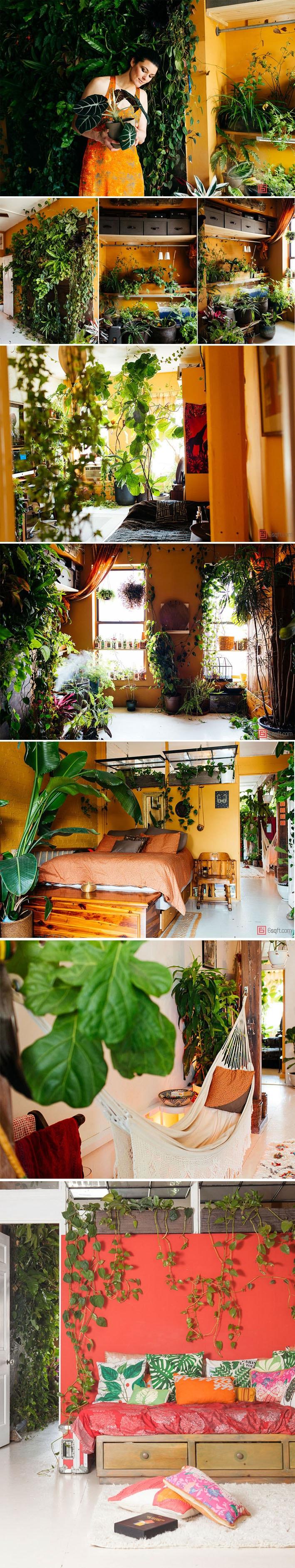 Empresária decora seu belo loft em Nova York com mais de 500 plantas stylo urbano-1