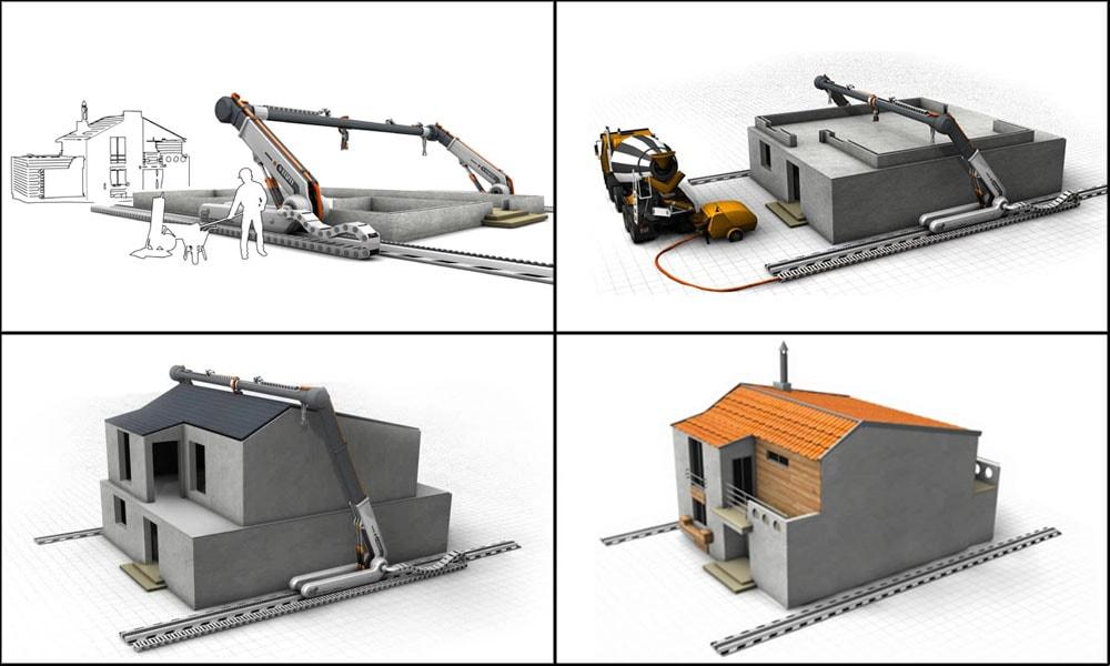 mpressoras 3D robóticas poderão imprimir uma casa dedois andares em 20 Horas stylo urbano