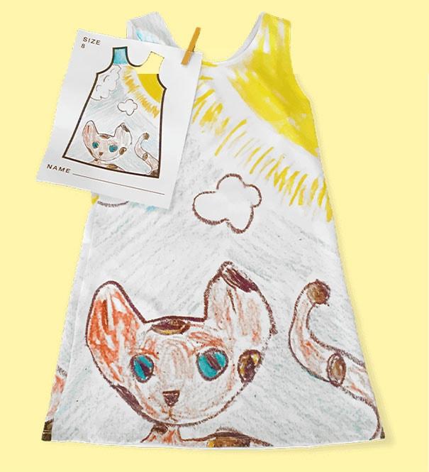 Marca de moda infantil permite que as crianças desenhem as estampas de seus vestidos stylo urbano-2