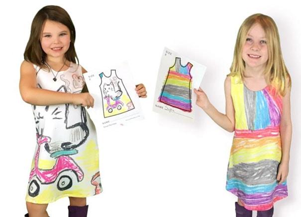 Marca de moda infantil permite que as crianças desenhem as estampas de seus vestidos stylo urbano -8