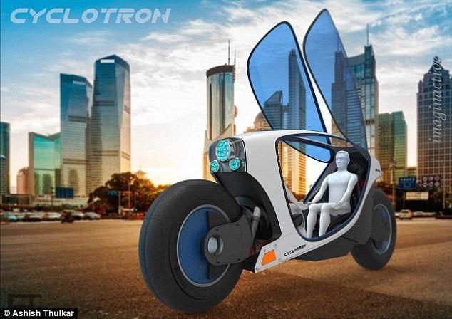 A motocicleta de auto condução Cyclotron será o transporte do futuro nas cidades stylo urbano-2