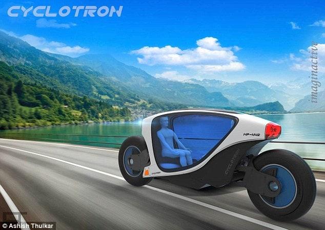 A motocicleta de auto condução Cyclotron será o transporte do futuro nas cidades stylo urbano-3
