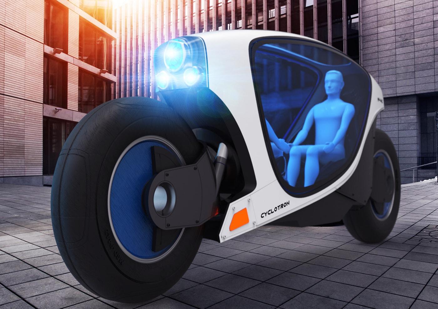 A motocicleta de auto condução Cyclotron será o transporte do futuro nas cidades stylo urbano-1