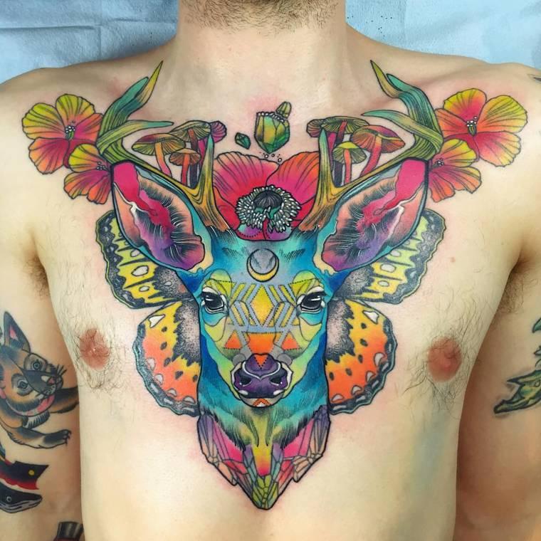 Conheça as tatuagens psicodélicas e encantadoras de Kshocs stylo urbano