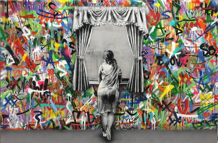 Atrás da cortina - Conheça a arte da rua do grafiteiro Martin whatson stylo urbano