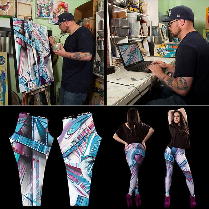 A loja virtual Bombsheller produz leggings com estampas exclusivas criadas por artistas gráficos stylo urbano-1