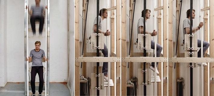Vertical Walking, um novo tipo de elevador que se move 100% com força humana stylo urbano-1