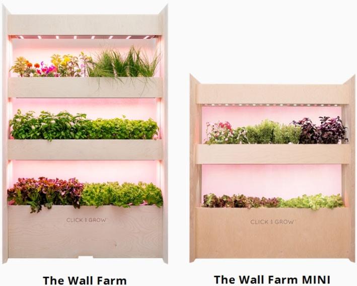 Cresça sua própria salada em casa com a horta vertical Wall Farm stylo urbano