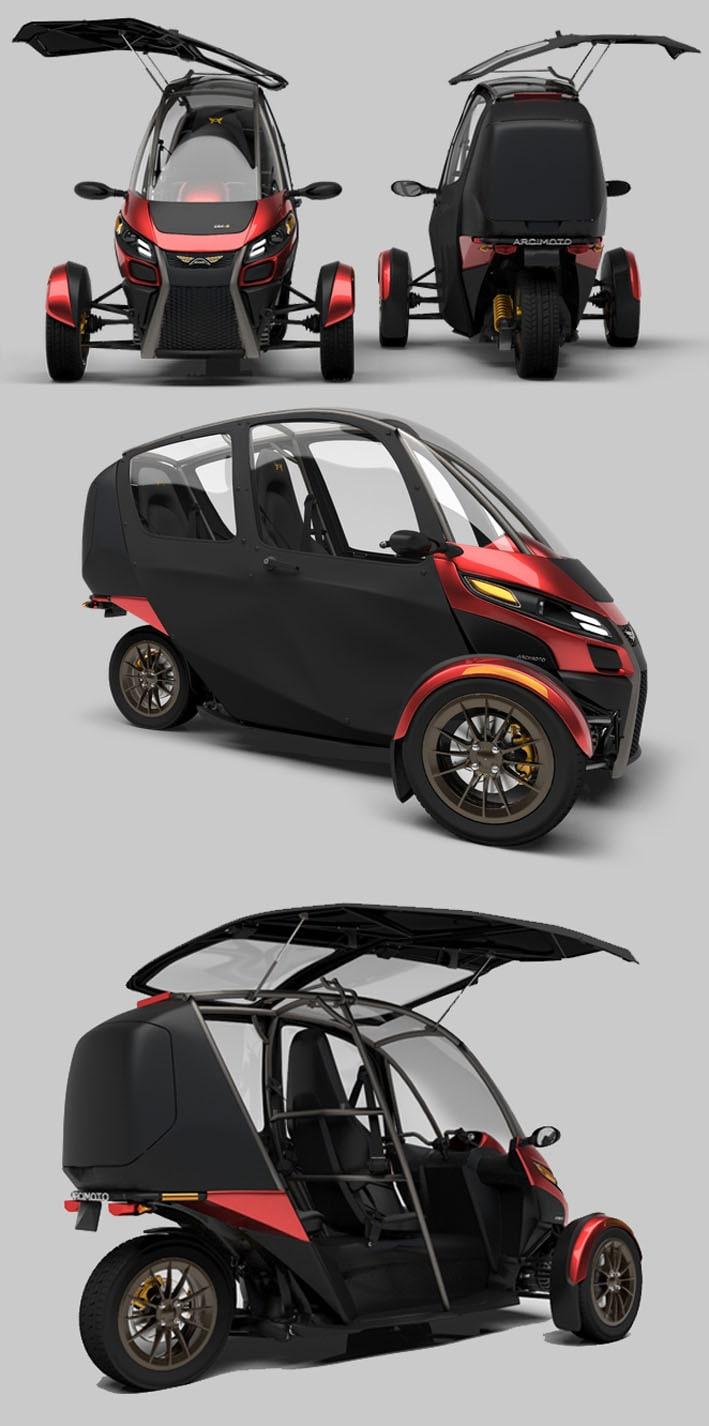 Arcimoto SRK - O carro elétrico popular perfeito para os centros urbanos stylo urbano-2