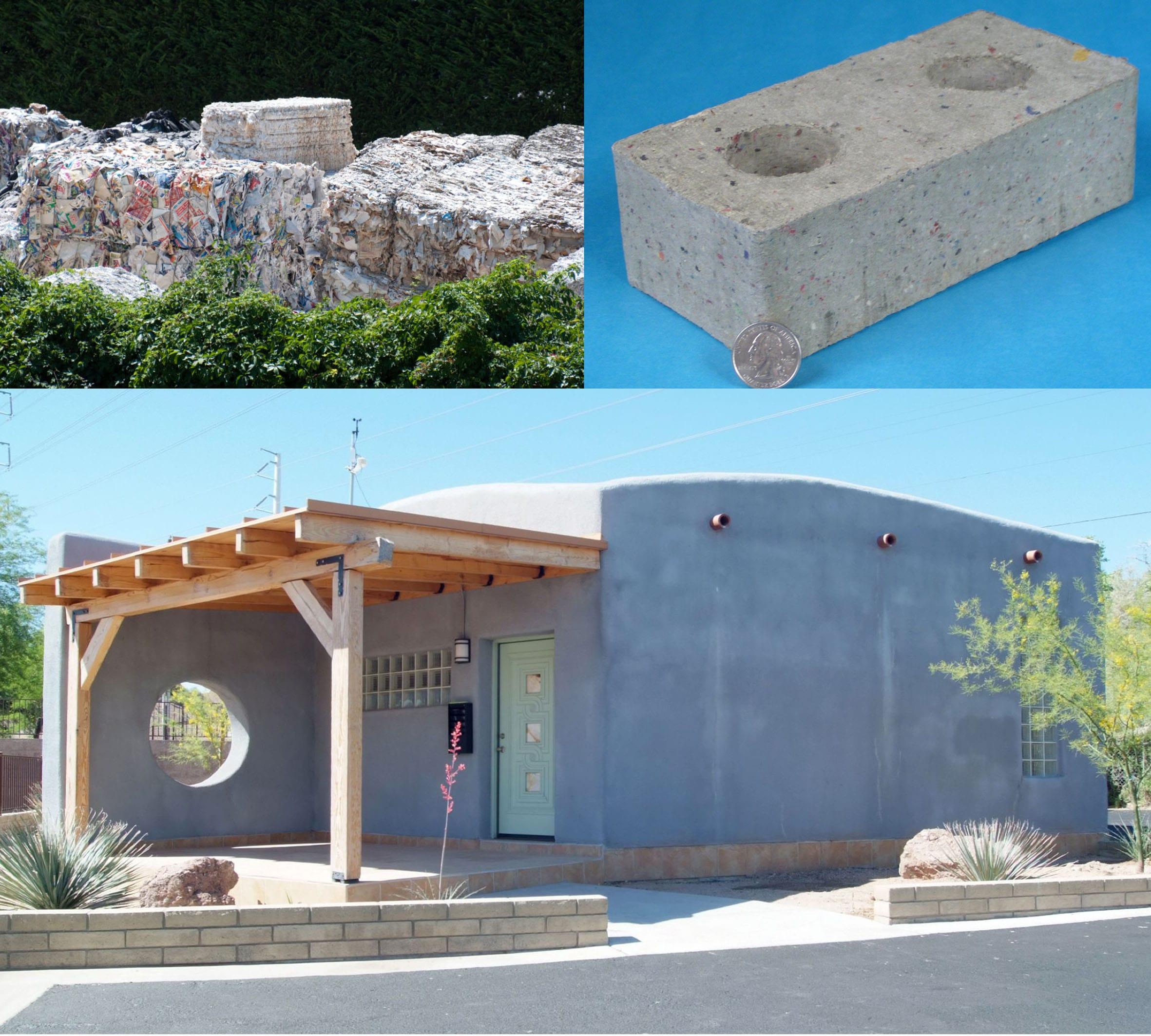 O tijolo ecológico Betr-Block possibilita construir casas com papel reciclado stylo urbano