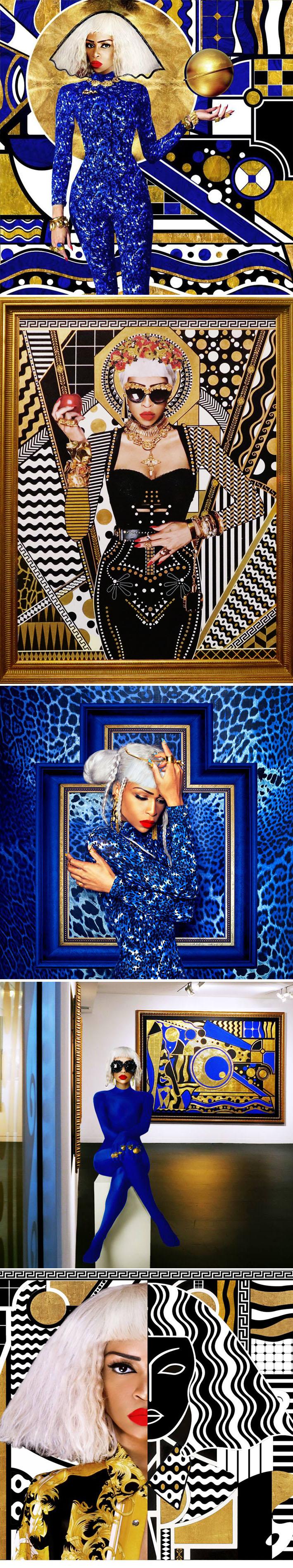 A artista Lina Iris Viktor mescla alta moda com hip hop e desenhos geométricos Art Nouveau stylo urbano-3