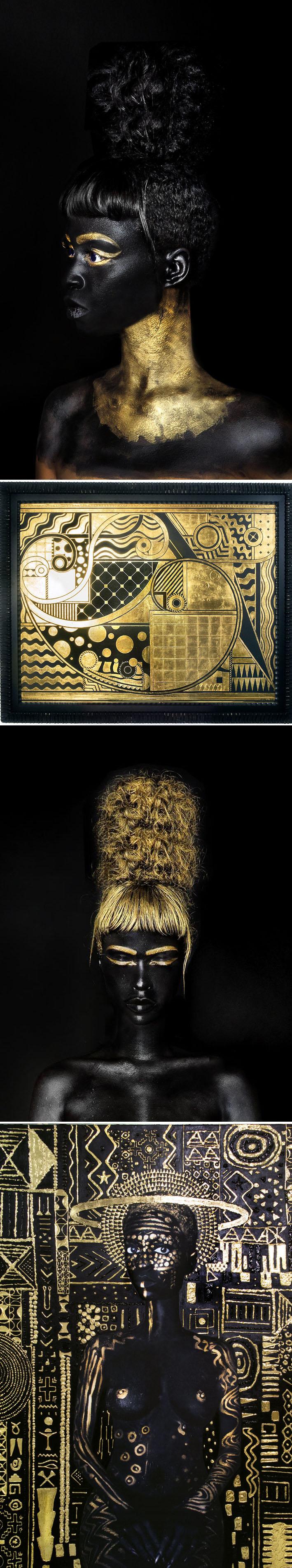 A artista Lina Iris Viktor mescla alta moda com hip hop e desenhos geométricos Art Nouveau stylo urbano-2