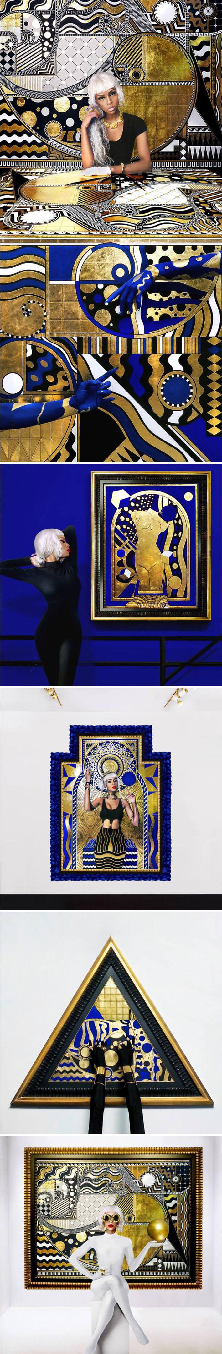 A artista Lina Iris Viktor mescla alta moda com hip hop e desenhos geométricos Art Nouveau stylo urbano-4
