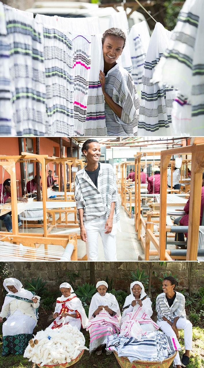 Supermodelo Liya Kebede criou marca de roupas artesanais para preservar os tecelões da Etiópia stylo urbano