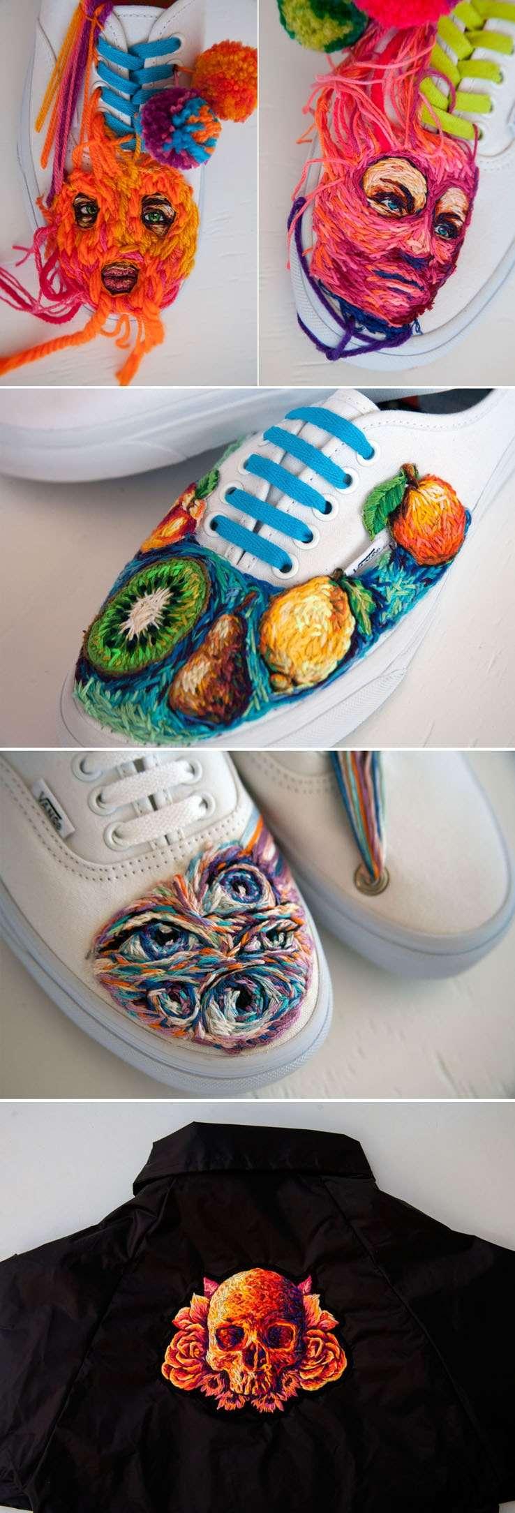Danielle Clough cria lúdicos bordados coloridos sobre as mais variadas superfícies stylo urbano-2