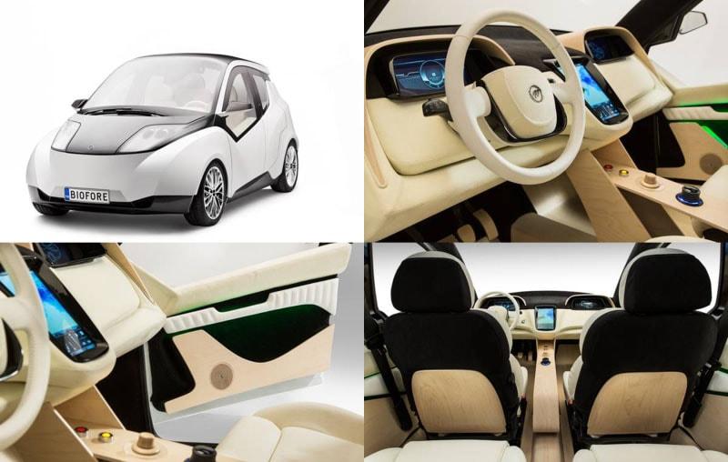 Biofore : O primeiro carro reciclável feito com biomateriais de madeira stylo urbano-1