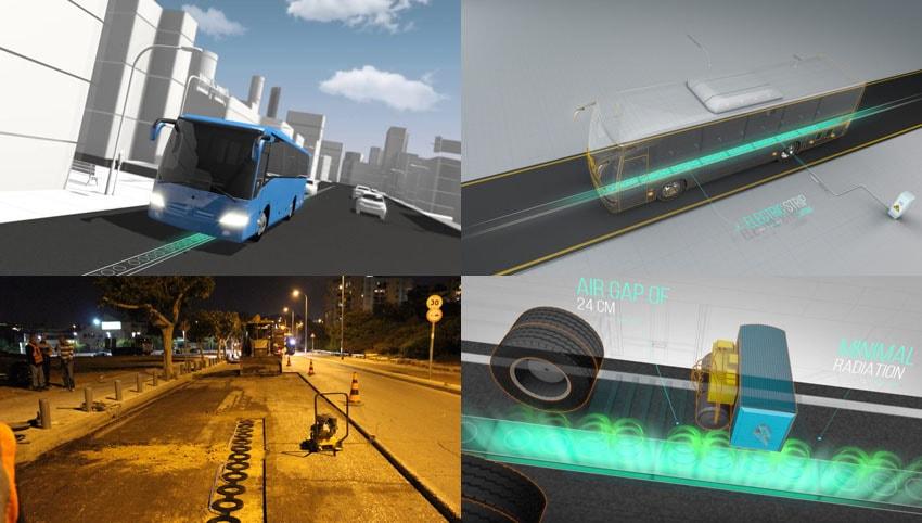 Israel testa estrada elétrica que carrega sem fio veículos em movimento nas cidades stylo urbano