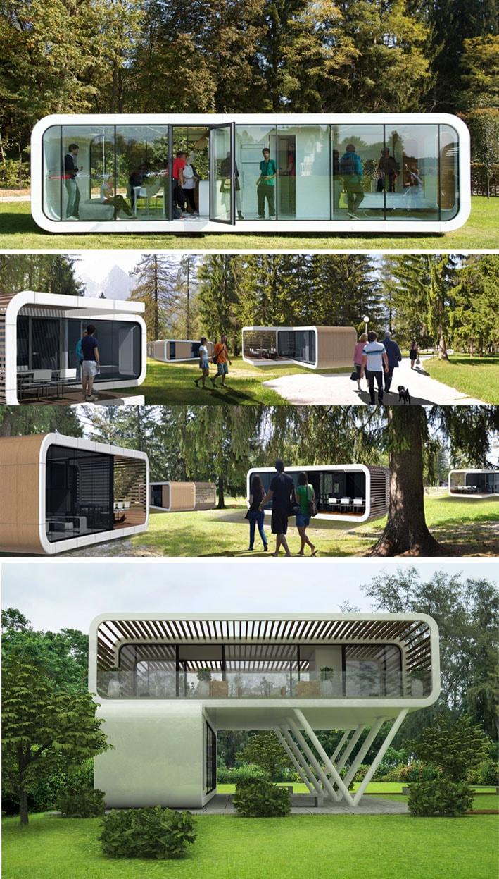 O futuro da habitação : Casas modulares pré-fabricadas stylo urbano-1